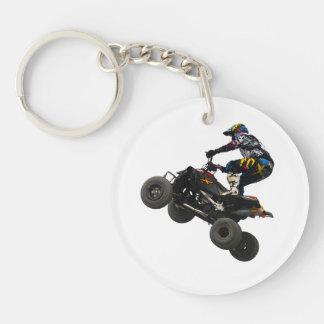 quad bike Single-Sided round acrylic keychain