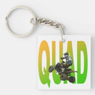 quad bike Single-Sided square acrylic key ring