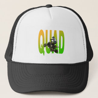 quad bike trucker hat