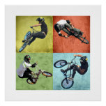 Quad BMX, Copyright Karen J Williams Poster