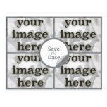 Quad Misty Grey Save the Date Postcard