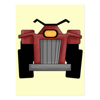 Quad Runner Bike Postcard