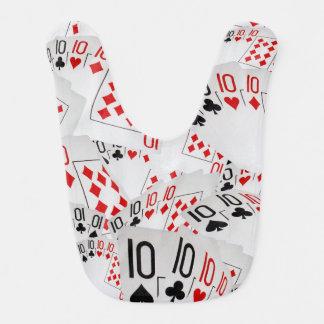 Quad Tens In A Layered Cards Pattern, Bib