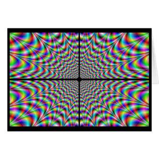 quadrants of chaos (optical illusion) card