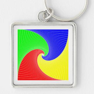 Quadrat Spiralen square spirals Schlüsselanhänger
