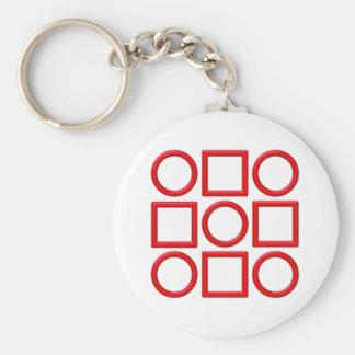 Quadrate Kreise squares circles Schlüsselanhänger