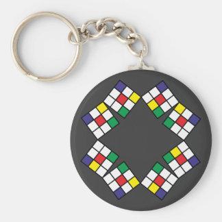 Quadrate vier Farben squares four colors Schlüsselanhänger