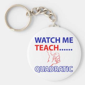 QUADRATIC equation design Basic Round Button Key Ring