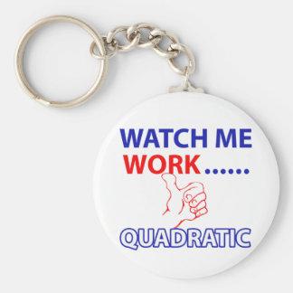 quadratic mathematics design basic round button key ring