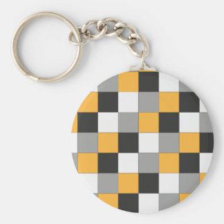 Quadrats Basic Round Button Key Ring