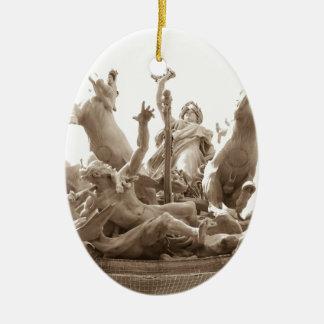 Quadriga in Paris, France Christmas Ornament