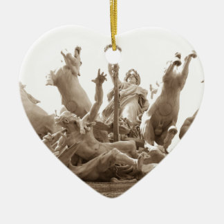 Quadriga in Paris, France Christmas Ornament