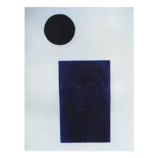 Quadrilateral and the circle by Kazimir Malevich Postcard