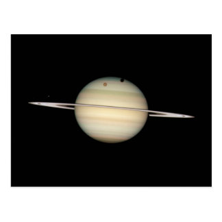 Quadruple Saturn Moon Transit Postcard