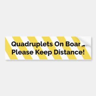Quadruplets on Board bumper sticker