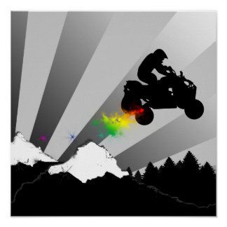 quads : dirt trail : poster