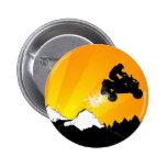 quads. orange sunset. 6 cm round badge