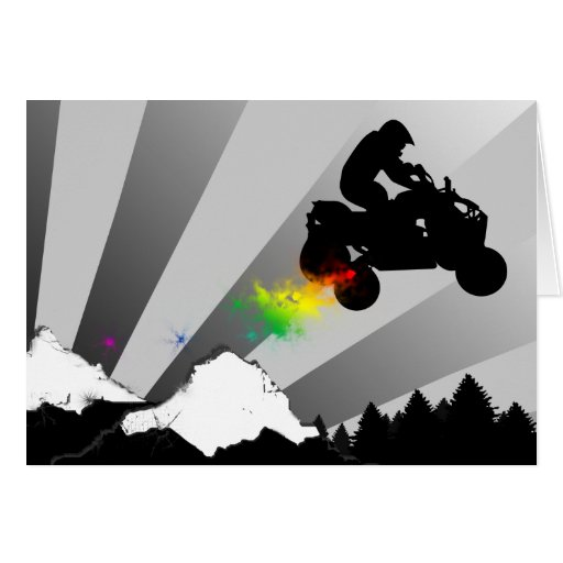 quads. rainbow sunset. cards