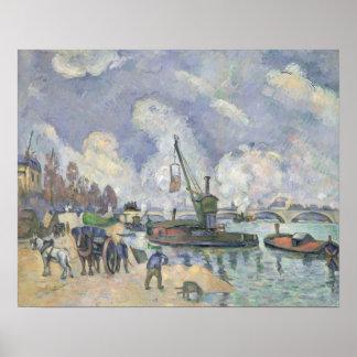 Quai de Bercy, Paris, 1873-75 Poster
