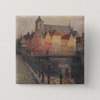 Quai de la Paille, Bruges 15 Cm Square Badge