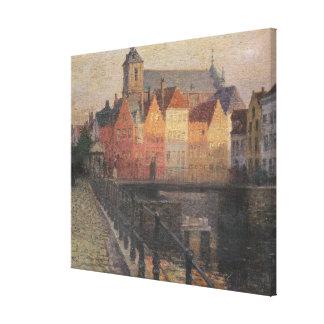 Quai de la Paille, Bruges Canvas Print