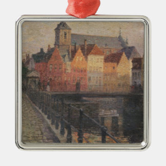 Quai de la Paille, Bruges Christmas Ornament