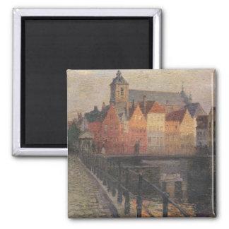 Quai de la Paille, Bruges Square Magnet