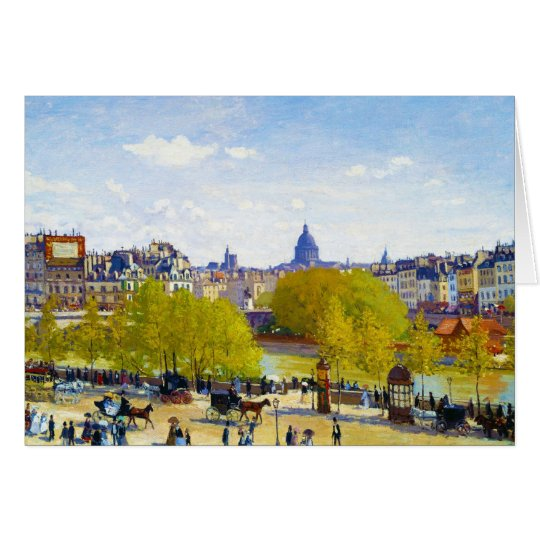 Quai du Louvre Claude Monet Card