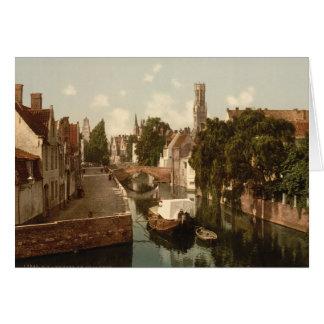 Quai Vert, Bruges, Belgium Card
