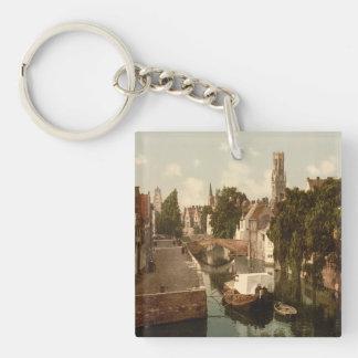 Quai Vert, Bruges Belgium Key Ring