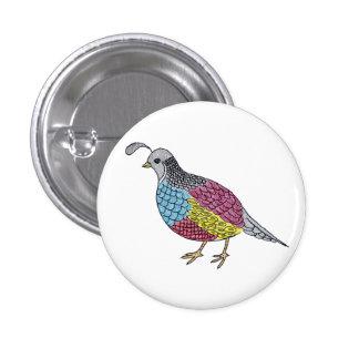 quail 3 cm round badge