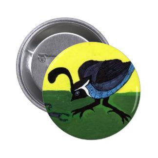 Quail Art Print Pinback Button