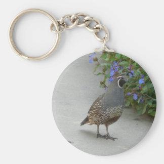 quail basic round button key ring