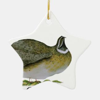 quail bird, tony fernandes christmas ornament