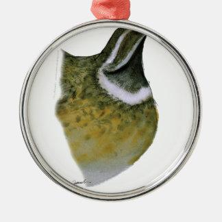 quail bird, tony fernandes Silver-Colored round decoration