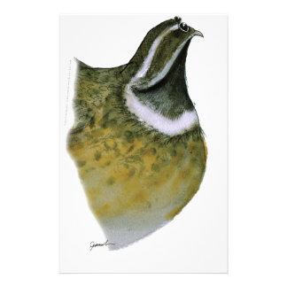 quail bird, tony fernandes stationery