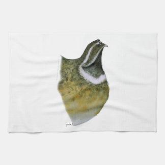 quail bird, tony fernandes tea towel