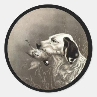 Quail Classic Round Sticker