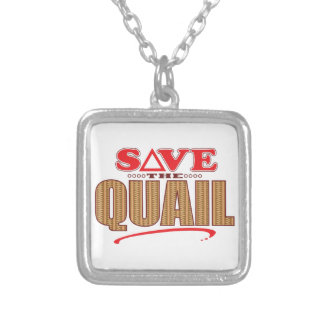 Quail Save Silver Plated Necklace