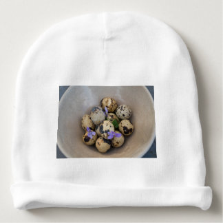 Quails eggs & flowers 7533 baby beanie