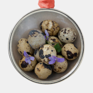 Quails eggs & flowers 7533 christmas ornament