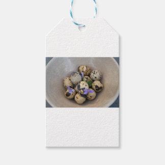 Quails eggs & flowers 7533 gift tags
