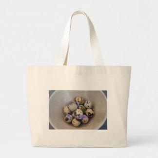 Quails eggs & flowers 7533 large tote bag