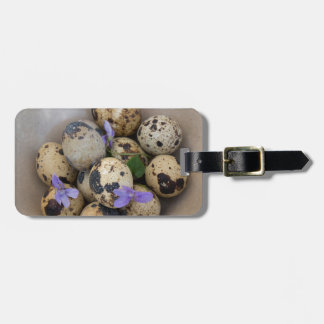 Quails eggs & flowers 7533 luggage tag