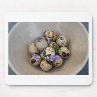 Quails eggs & flowers 7533 mouse pad