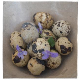 Quails eggs & flowers 7533 napkin