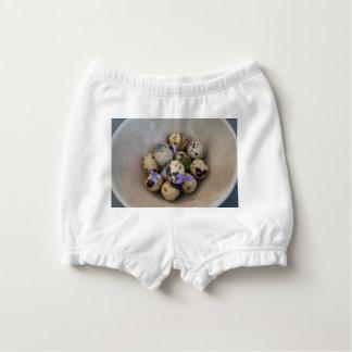 Quails eggs & flowers 7533 nappy cover