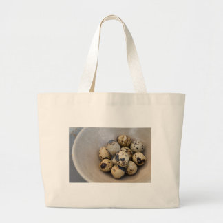 Quails eggs large tote bag