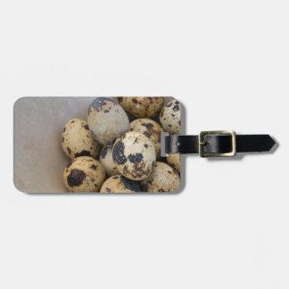 Quails eggs luggage tag