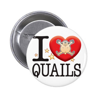 Quails Love Man 6 Cm Round Badge